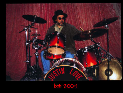 bob playing drums 2004